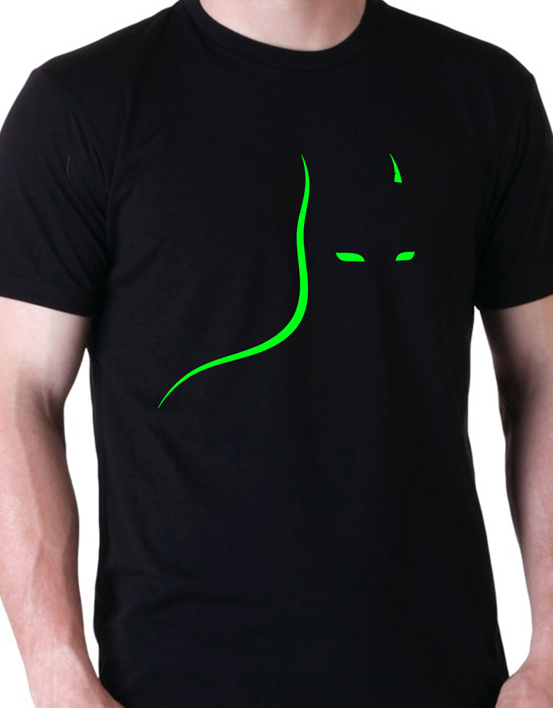 d1c82f03c838f Apparel T-Shirt. Neon Batman Shadow ...