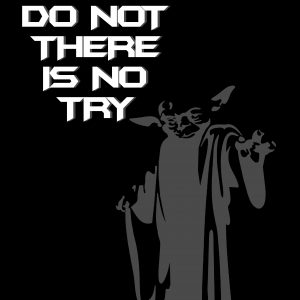 yoda quote poster A4